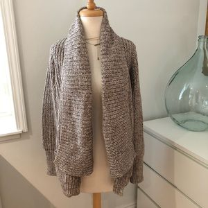 J Crew Sweater Coat Cardigan Brown